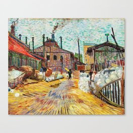 The Factory by Vincent Van Gogh Canvas Print