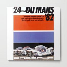 Le Mans 1982, 24hs Le Mans, 1982, original vintage poster Metal Print