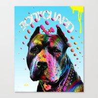 pitbull Canvas Prints featuring pitbull  by mark ashkenazi