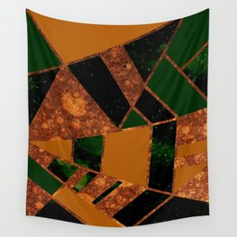 #455 Gold & Pothos Wall Tapestry