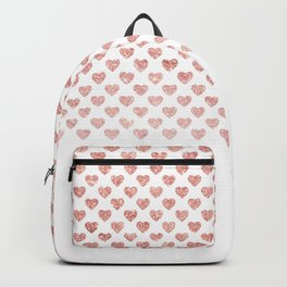 Chic trendy luxury faux pink glitter hearts Backpack