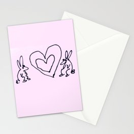 Rabbit Love Stationery Cards