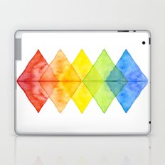 Geometric Watercolor Shapes Triangles Pattern Laptop & iPad Skin