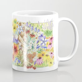 Colorado State Art | Colorado Art | Colorado Wildflowers | State of Colorado | Flowers of Colorado Coffee Mug