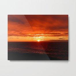 Sun Sets on the Mighty Saint-Lawrence Metal Print