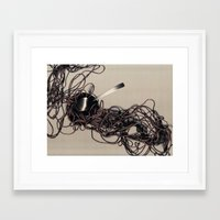 solid Framed Art Prints featuring Solid by Louise Nye