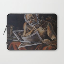 Pensive Lately Laptop Sleeve