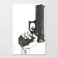 gun Canvas Prints featuring GUN by Takeru Amano