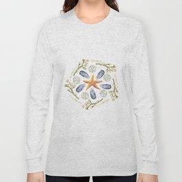 Tide Pool Beach Mandala 3 - Watercolor Long Sleeve T-shirt