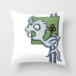 Kraken's Cousin Throw Pillow