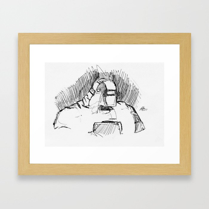 Warbot Sketch #010 Framed Art Print