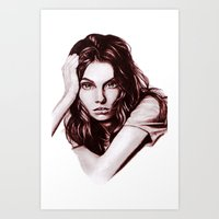 daria Art Prints featuring Daria by Olga Noes