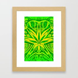 Bud Buggin green Framed Art Print