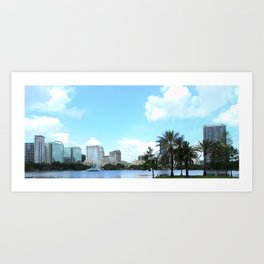 From Lake Eola Park Art Print