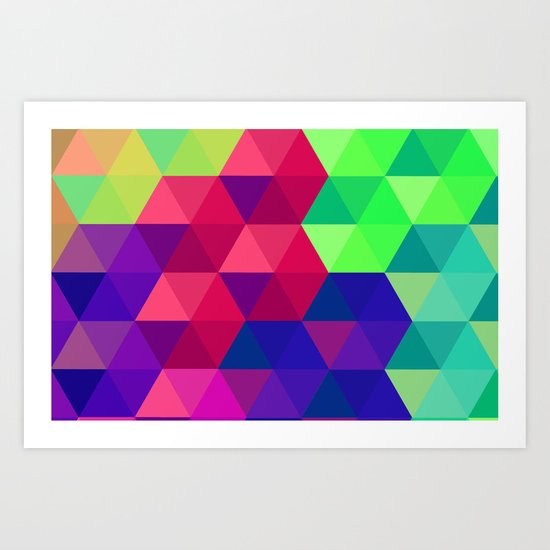 Hexagons 2 Art Print