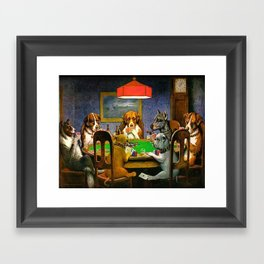 A FRIEND IN NEED - C.M. COOLIDGE Framed Art Print