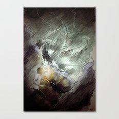 The wake of cthulhu Canvas Print