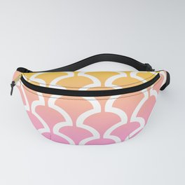 Classic Fan or Scallop Pattern 461 Yellow Orange and Pink Fanny Pack