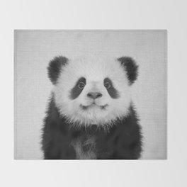 Panda Bear - Black & White Throw Blanket
