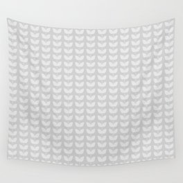 White Leaves Wall Tapestry