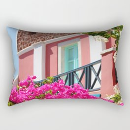 Lovely Santorini Rectangular Pillow