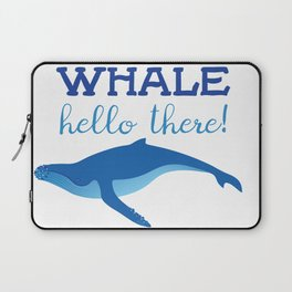 Whale Hello There! Laptop Sleeve
