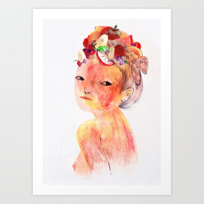 Salade de fruit Art Print