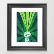Green Lantern's light Framed Art Print