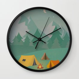 Mountain Camp Wall Clock