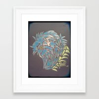 the thing Framed Art Prints featuring thing  by Shaun Kilbourn