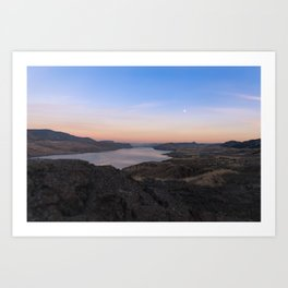 Sunset Over Kamloops Lake Art Print