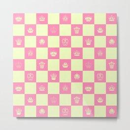 Checkered Queenbee royal art print Metal Print