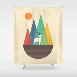 Step Of Autumn Shower Curtain
