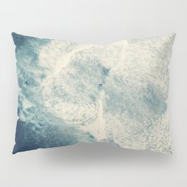 Ice Blue Surf Pillow Sham