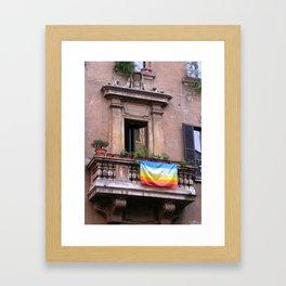 Campo dei Fiori in Rome  Framed Art Print