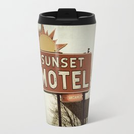 Sunset Motel Travel Mug