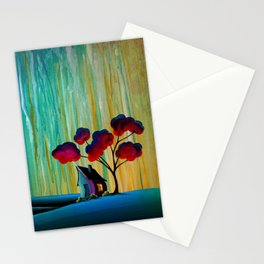 Down In The Valley - a rainy night landscape Stationery Cards