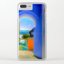 Continental Blue Archway Clear iPhone Case