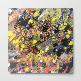 Flowering Tube Abstract Metal Print