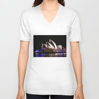 australia V-neck T-shirts featuring Australia by lcouch