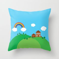 We Love This Place Throw Pillow