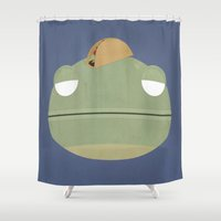 taco Shower Curtains featuring Taco Lizard by Anthony Massingham