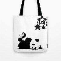 sleep Tote Bags featuring Sleep by Panda Cool