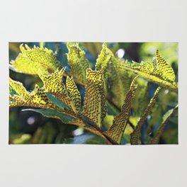 Summer invasion on leafs Rug