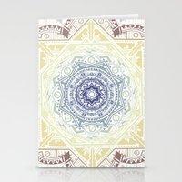 henna Stationery Cards featuring Mandala Henna by Liz Slome