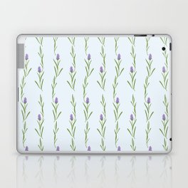 Modern artistic pastel blue lavender watercolor floral pattern Laptop & iPad Skin