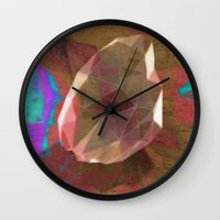 snatch Wall Clocks featuring crystal snatch by Stephen Leafriver