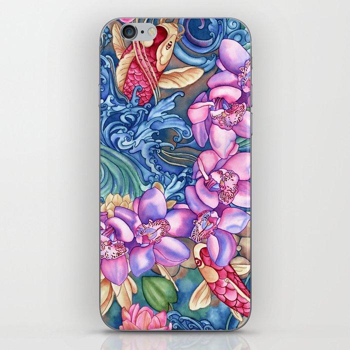 Orchid Splash iPhone Skin