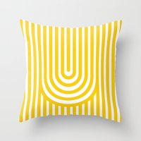 Throw Pillows featuring U, by MADEYOUL__K