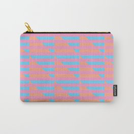 Pink Blue Peach Houndstooth /// www.pencilmeinstationery.com Carry-All Pouch